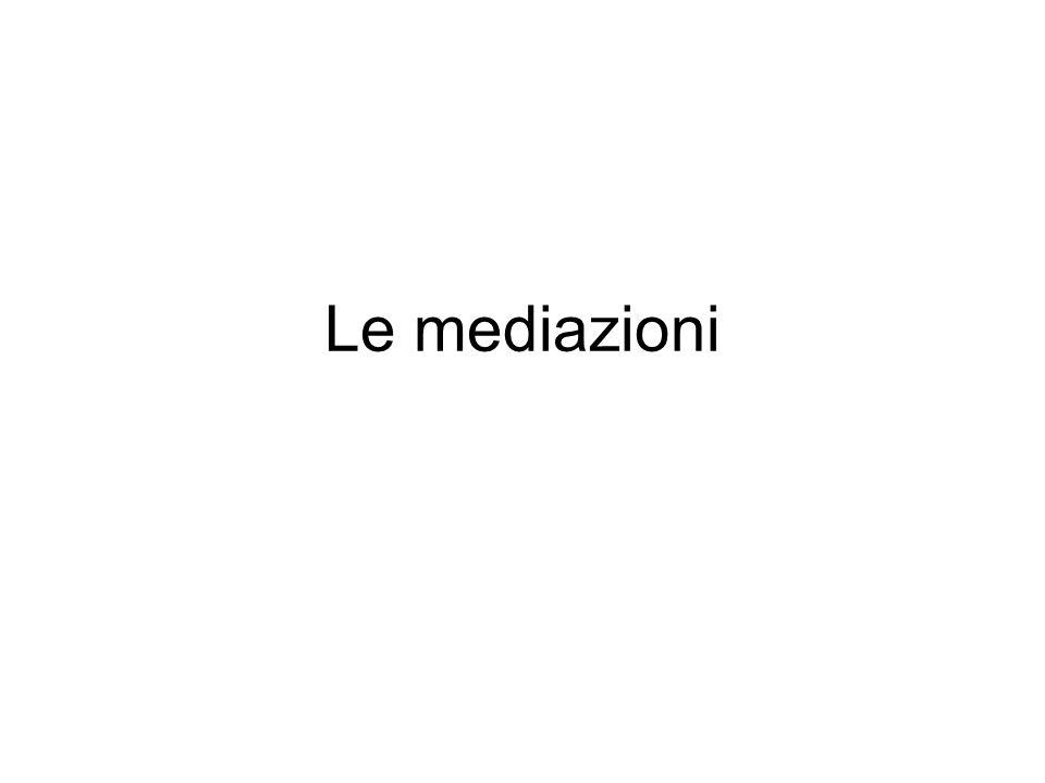 Le mediazioni