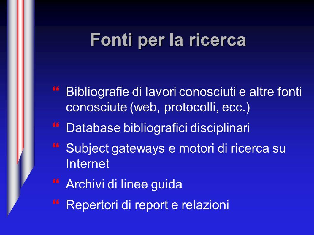 Un database bibliografico: Medline