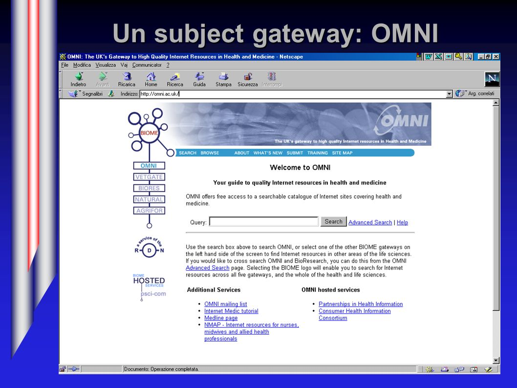Un subject gateway: OMNI