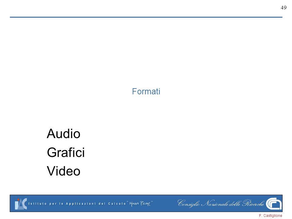 F. Castiglione 49 Formati Audio Grafici Video
