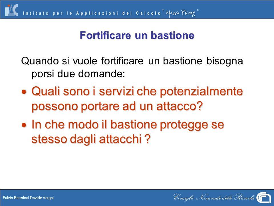 Fulvio Bartoloni Davide Vergni Fortificare un bastione Quando si vuole fortificare un bastione bisogna porsi due domande: Quali sono i servizi che pot
