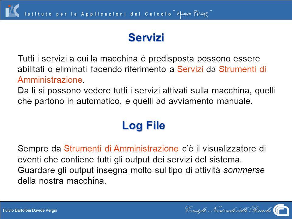 Fulvio Bartoloni Davide Vergni Servizi Tutti i servizi a cui la macchina è predisposta possono essere abilitati o eliminati facendo riferimento a Serv