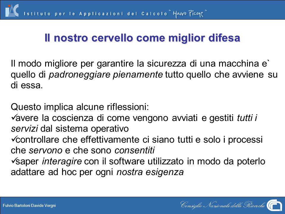 Fulvio Bartoloni Davide Vergni Il nostro cervello come miglior difesa Il modo migliore per garantire la sicurezza di una macchina e` quello di padrone