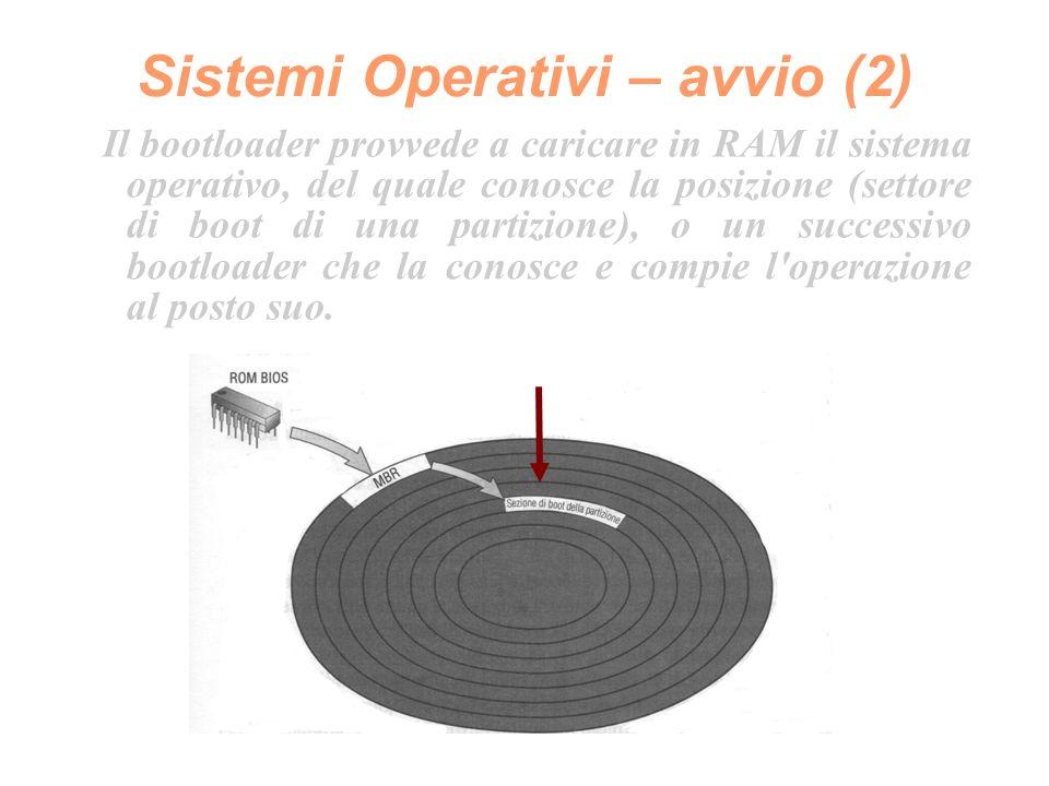 Sistemi Operativi – componenti (1) La componente fondamentale di un sistema operativo è denominata KERNEL (nucleo).