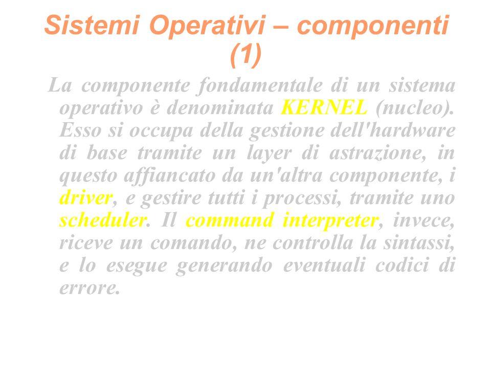 Sistemi Operativi – Unix (3) Esistono tra i due tipi differenze architetturali, semantiche (comandi - es.: ps - leggermente diversi) ma anche concettuali, specialmente per la struttura di init (che vedremo più avanti).