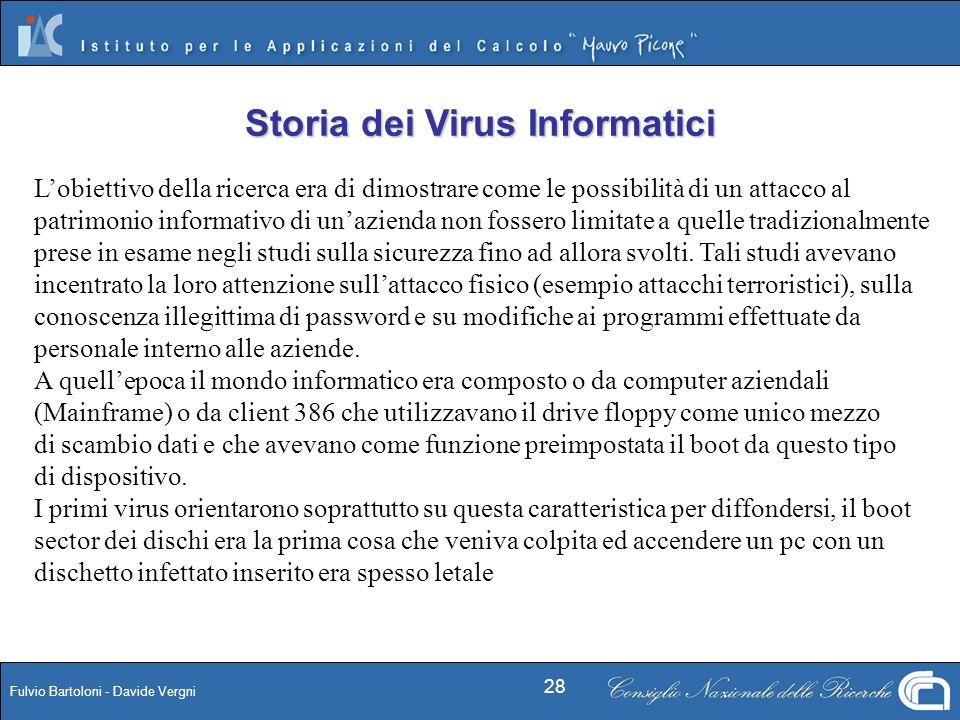 Fulvio Bartoloni - Davide Vergni 28 Lobiettivo della ricerca era di dimostrare come le possibilità di un attacco al patrimonio informativo di unaziend