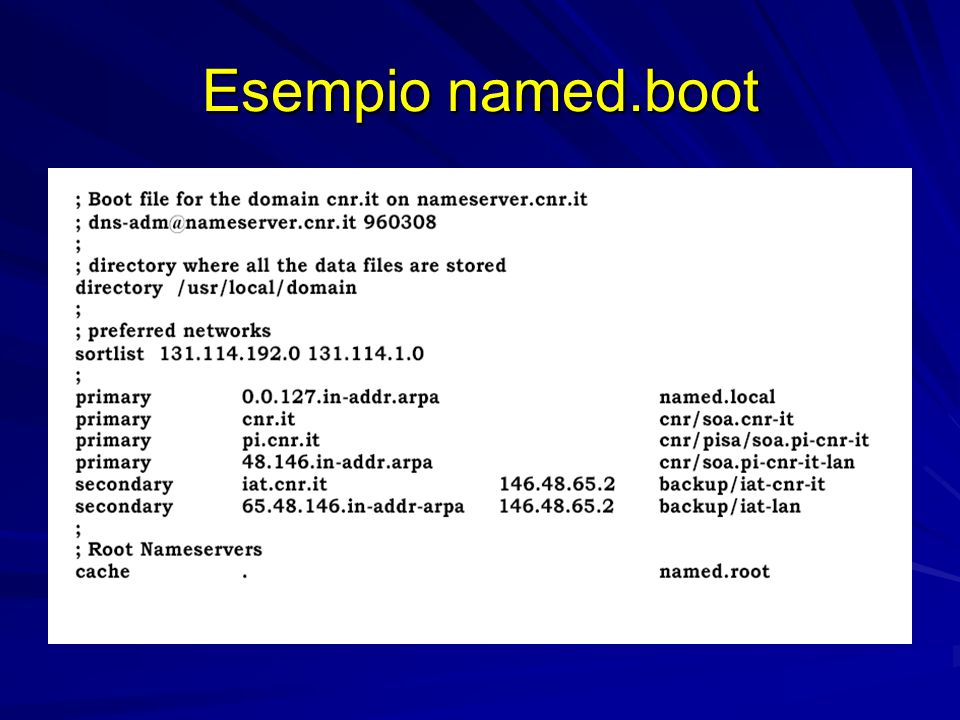 Esempio named.boot