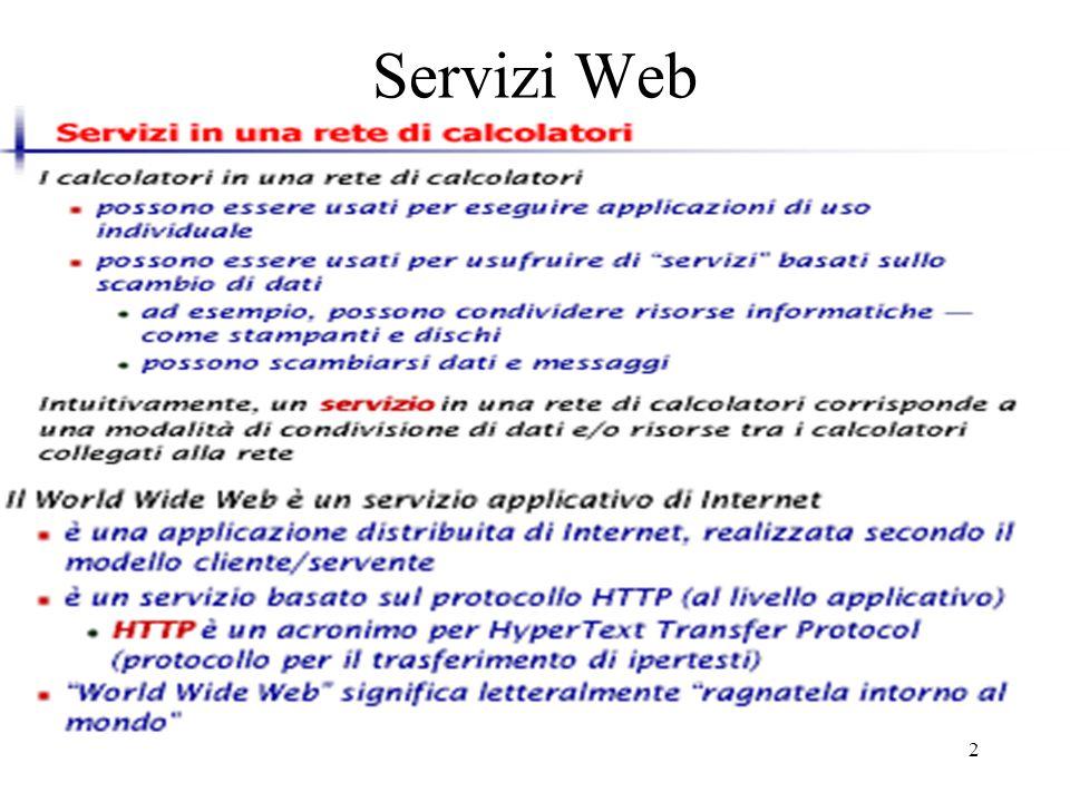 2 Servizi Web