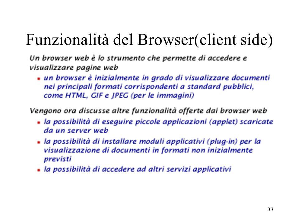 33 Funzionalità del Browser(client side)