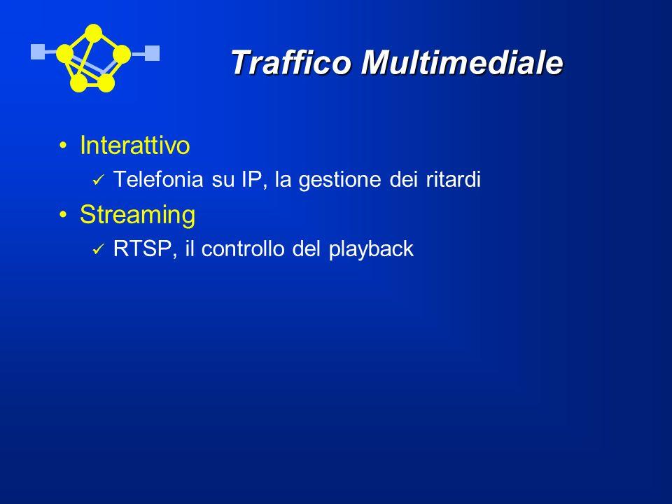 Traffico Multimediale Interattivo Telefonia su IP, la gestione dei ritardi Streaming RTSP, il controllo del playback