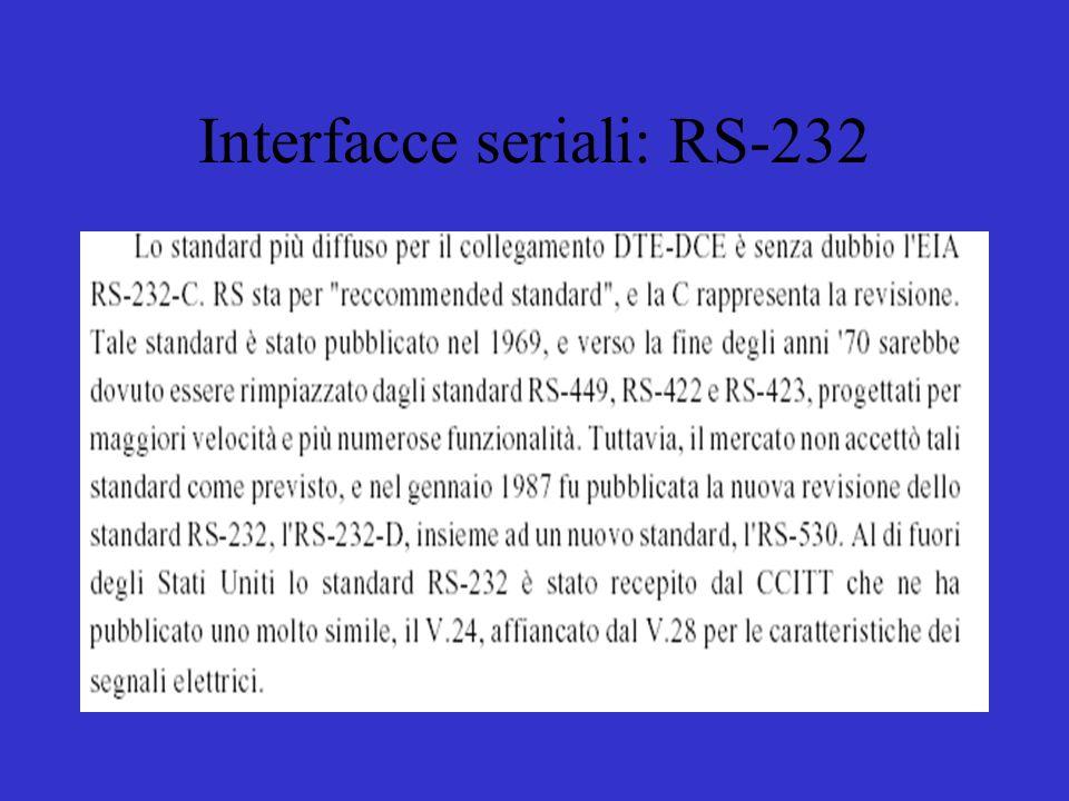 Interfacce seriali: RS-232