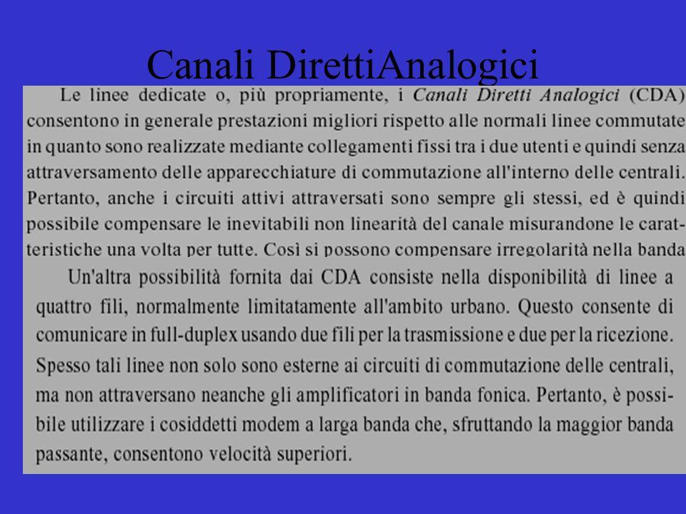 Canali DirettiAnalogici