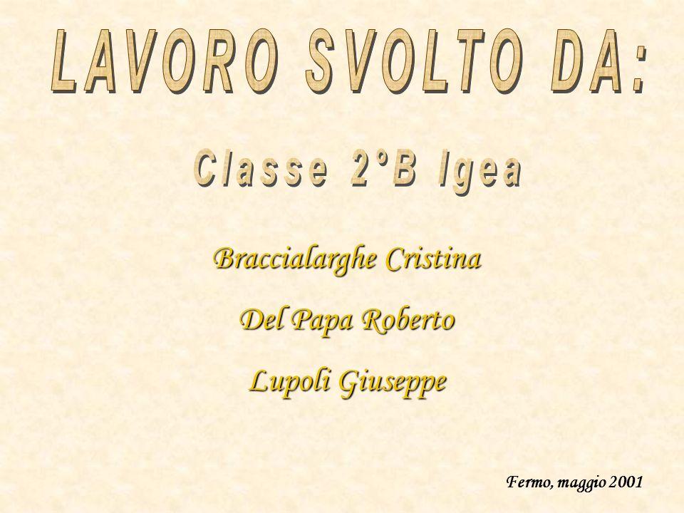 Braccialarghe Cristina Del Papa Roberto Lupoli Giuseppe Fermo, maggio 2001
