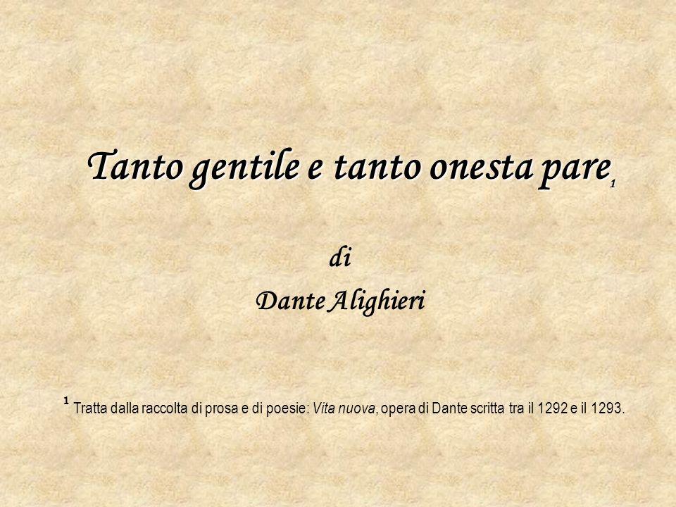 Biografia di: Dante Alighieri Nacque a Firenze nel 1265 da una famiglia della piccola nobiltà fiorentina e la sua vita fu profondamente segnata dagli