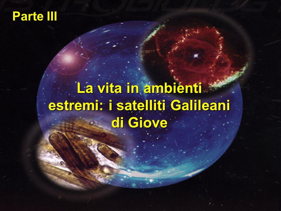 La vita in ambienti estremi: i satelliti Galileani di Giove Parte III
