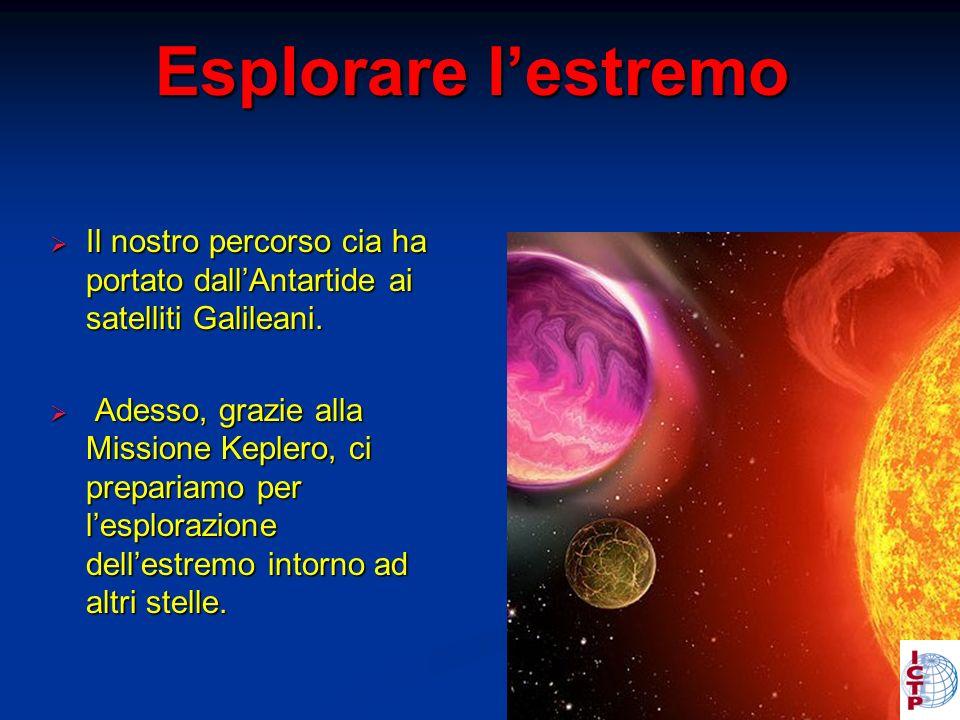 Esplorare lestremo Il nostro percorso cia ha portato dallAntartide ai satelliti Galileani.