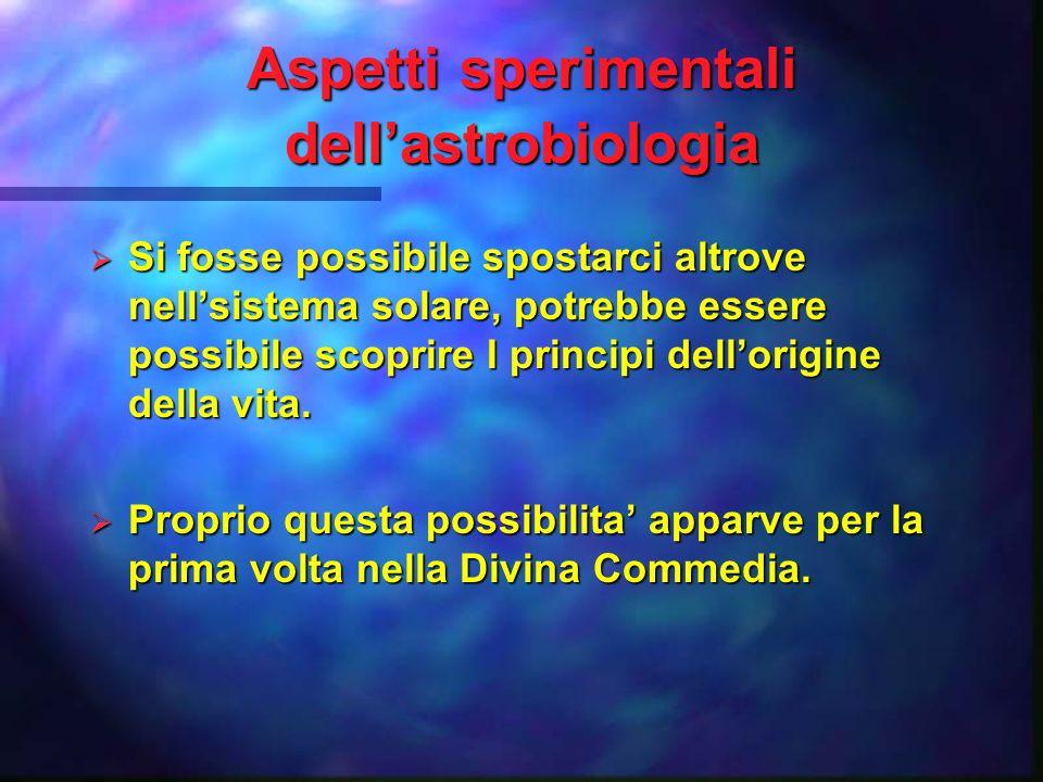 Il destino della vita nell universo Una seconda genesis Una seconda genesis Levoluzione della intelligenza Levoluzione della intelligenza Ce la vita altrove