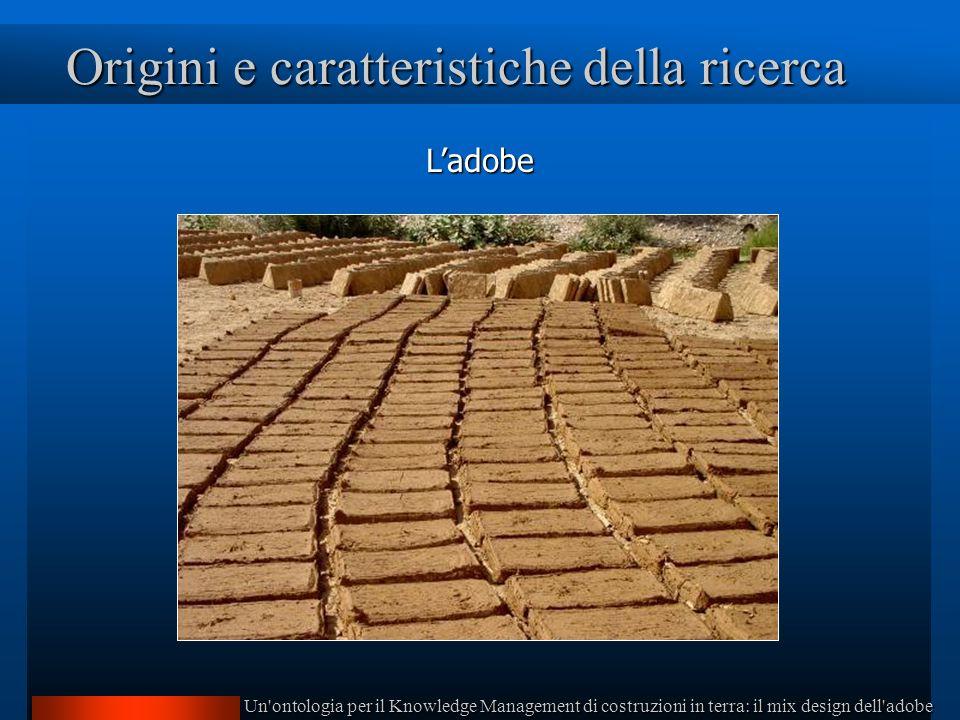 Un ontologia per il Knowledge Management di costruzioni in terra: il mix design dell adobe Origini e caratteristiche della ricerca Ladobe