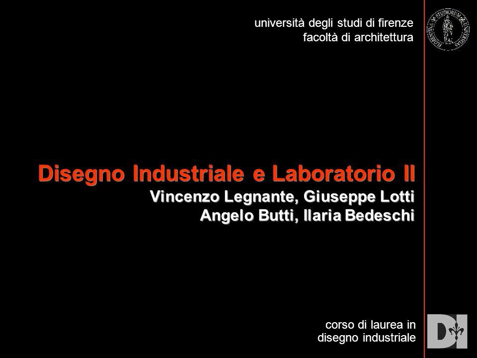 Disegno Industriale e Laboratorio II Vincenzo Legnante, Giuseppe Lotti Angelo Butti, Ilaria Bedeschi corso di laurea in disegno industriale università