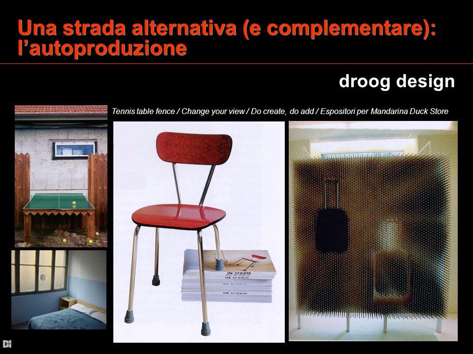 Una strada alternativa (e complementare): lautoproduzione droog design Tennis table fence / Change your view / Do create, do add / Espositori per Mand