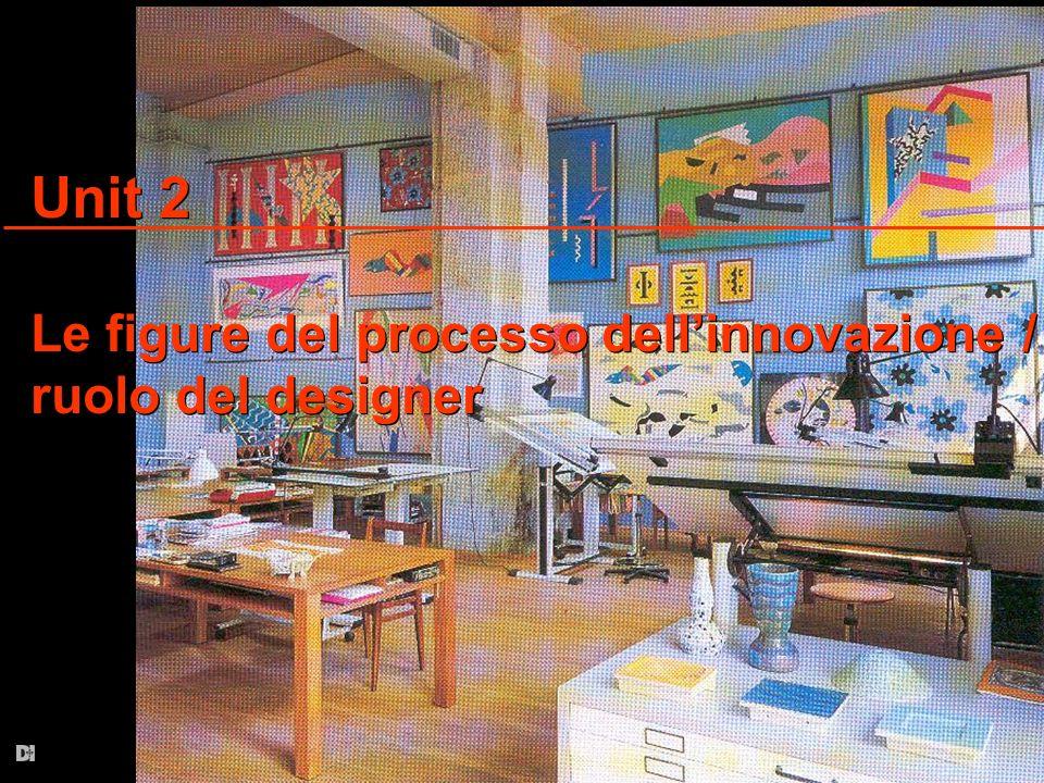 Unit 2 Le figure del processo dellinnovazione / ruolo del designer Unit 2 Le figure del processo dellinnovazione / ruolo del designer