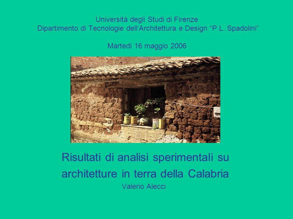 Università degli Studi di Firenze Dipartimento di Tecnologie dellArchitettura e Design P.L.