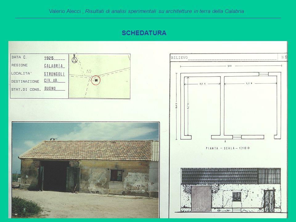 Territorio di Strongoli – Campioni senza paglia PROVA DI COMPRESSIONE: RISULTATI Valerio Alecci, Risultati di analisi sperimentali su architetture in terra della Calabria Campioni Area (cm 2 ) σ max (kg/cm 2 ) Fm (kg) Vm (μm) Fu (kg) Vu (μm) Vl (μm) K (kg/μm) c cd 145,5420,429301178,8 620,0038407501,180 1,5723,257 244,2023,031018 920,3 678,6632706601,500 1,3943,553 350,0516,228122868,0 541,0042802402,04011,9501,492 444,5524,1910781704,0 718,0032428001,110 2,1301,902 543,5624,741078 888,01078,0024004801,960 1,8502,702 644,2224,4410811039,3 720,002040,87201,480 1,4431,963 746,2315,317081004,5 472,001923,84201,350 2,3901,915 843,5528,6712491172,0 832,0033608801,450 1,3322,866 944,8929,381319 955,3 879,0018605901,977 1,6191,947 1042,2137,0215631084,51042,001730,27200,730 1,5061,595 media44,9024,341083,601281,47758,072794,68626,001,4782,7192,319 dev.