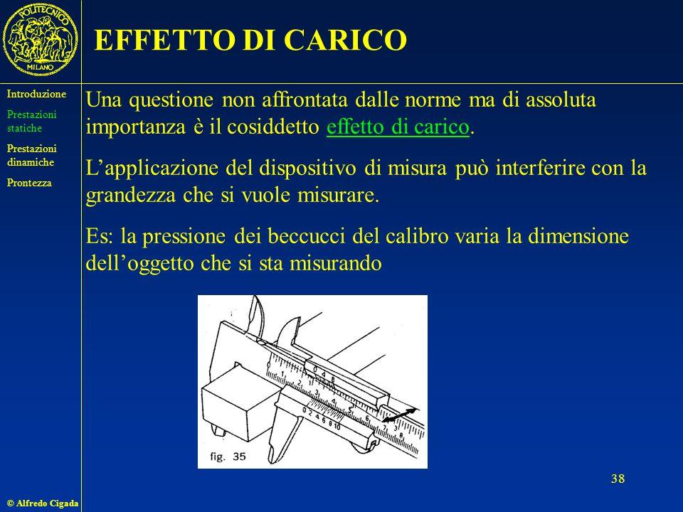 © Alfredo Cigada 38 EFFETTO DI CARICO Una questione non affrontata dalle norme ma di assoluta importanza è il cosiddetto effetto di carico.