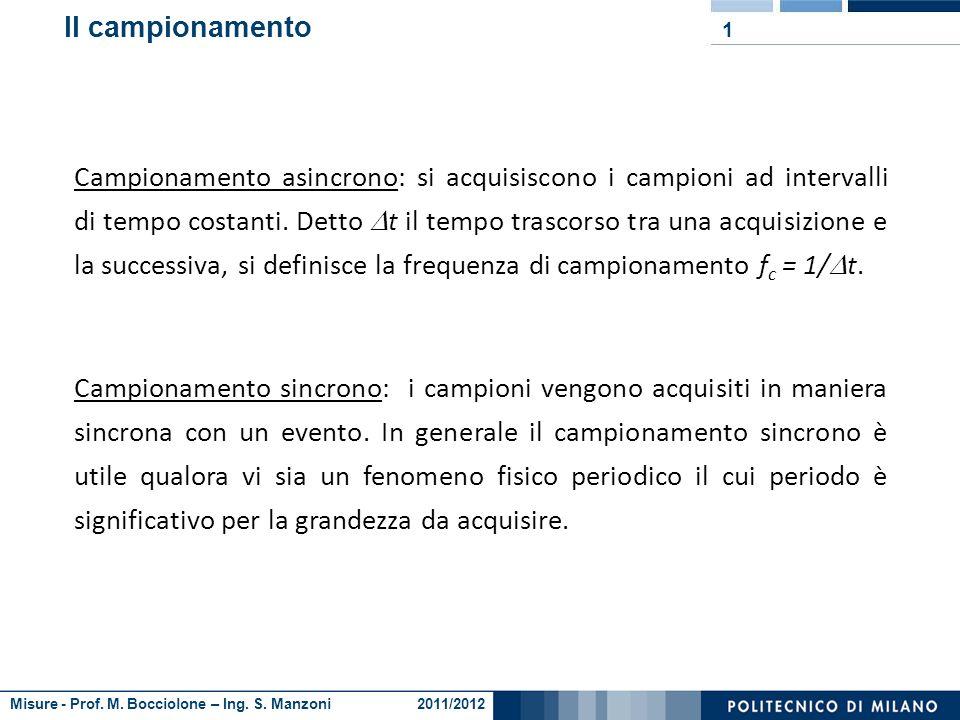 Ing. Giorgio Busca tel.: 02.2399.8445 e-mail: giorgio.busca@mail.polimi.it http://misure.mecc.polimi.it Misure Campionamento asincrono, sincrono e tim