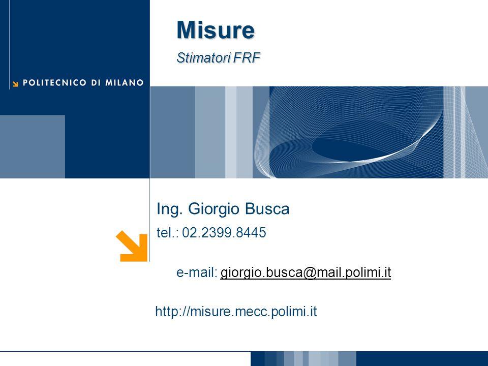 Misure Stimatori FRF Ing.