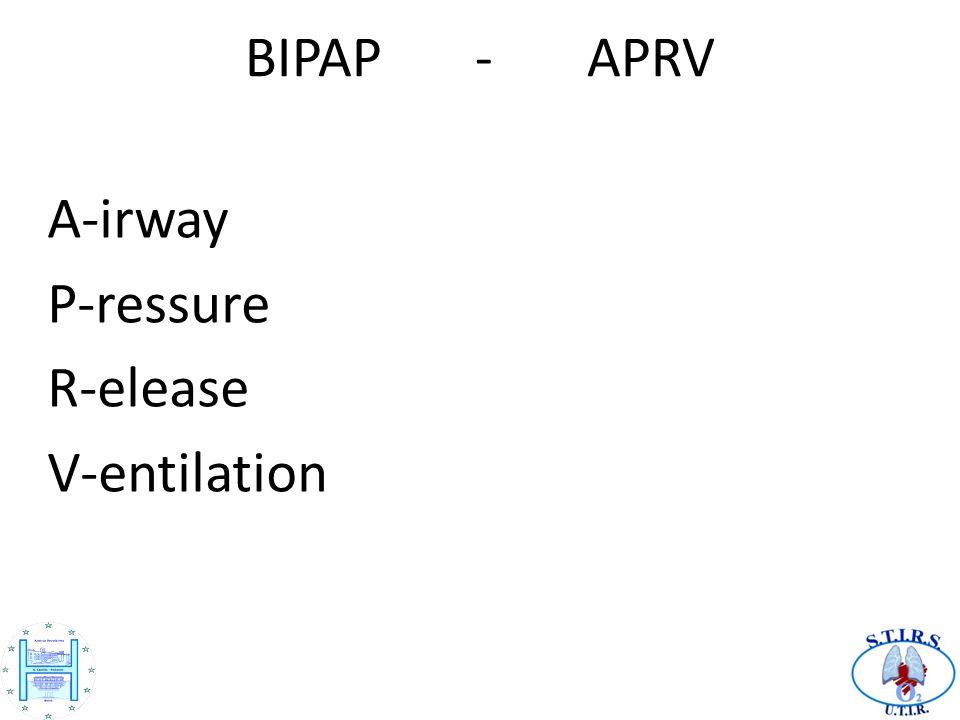 BIPAP - APRV A-irway P-ressure R-elease V-entilation