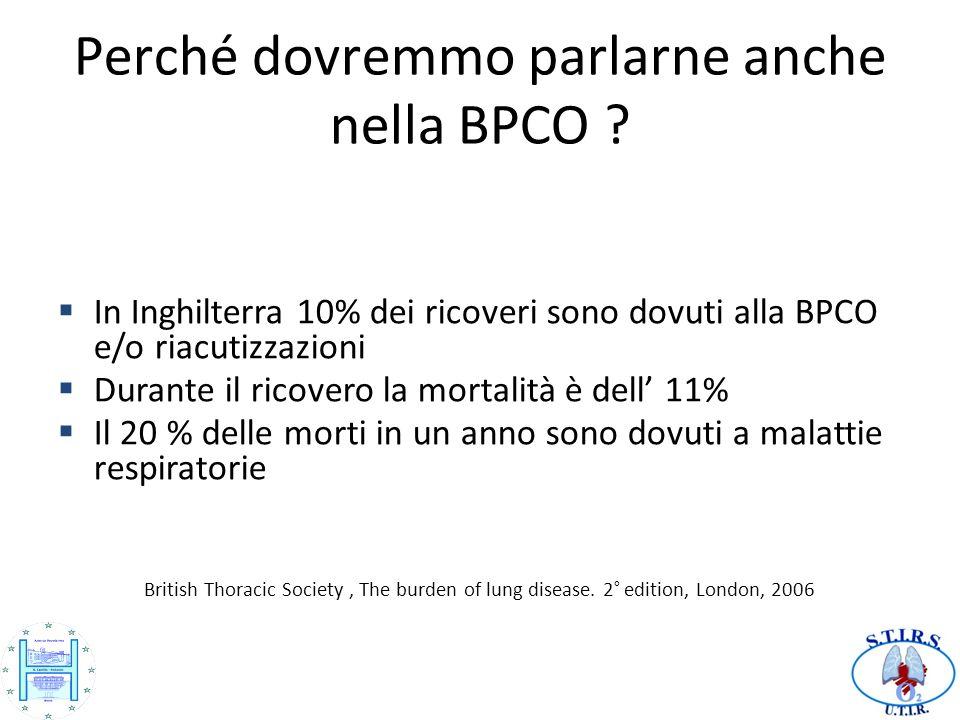 Perché dovremmo parlarne anche nella BPCO .