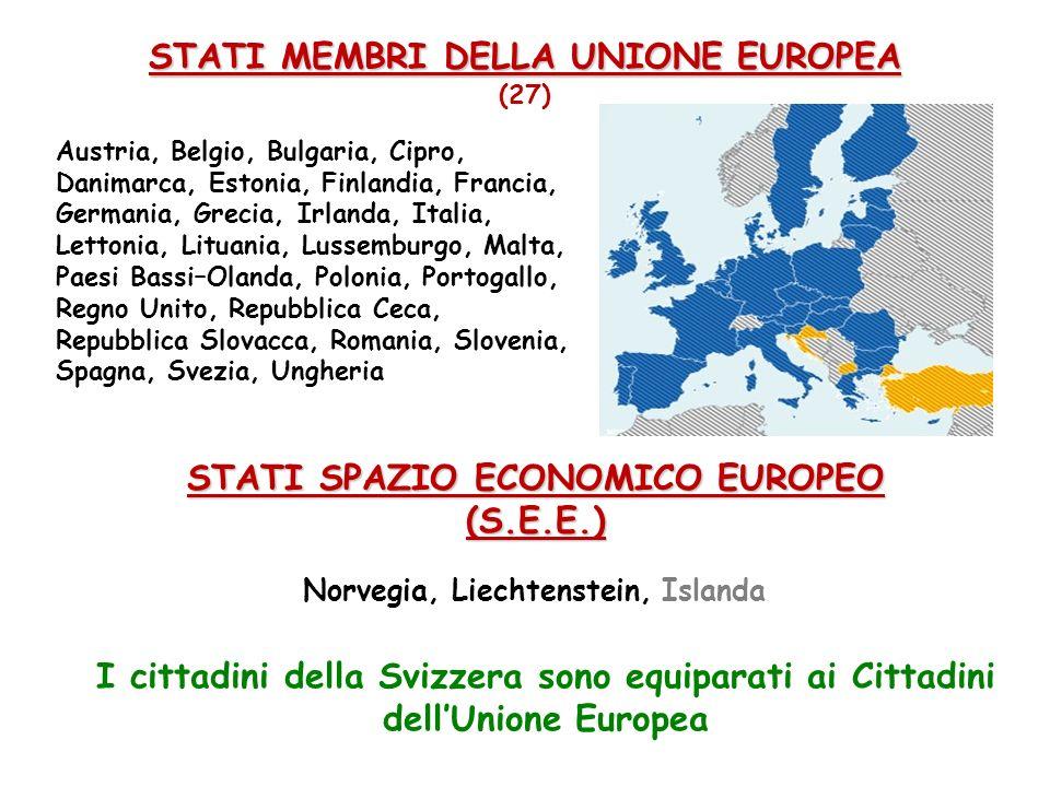 STATI MEMBRI DELLA UNIONE EUROPEA STATI MEMBRI DELLA UNIONE EUROPEA (27) Austria, Belgio, Bulgaria, Cipro, Danimarca, Estonia, Finlandia, Francia, Ger