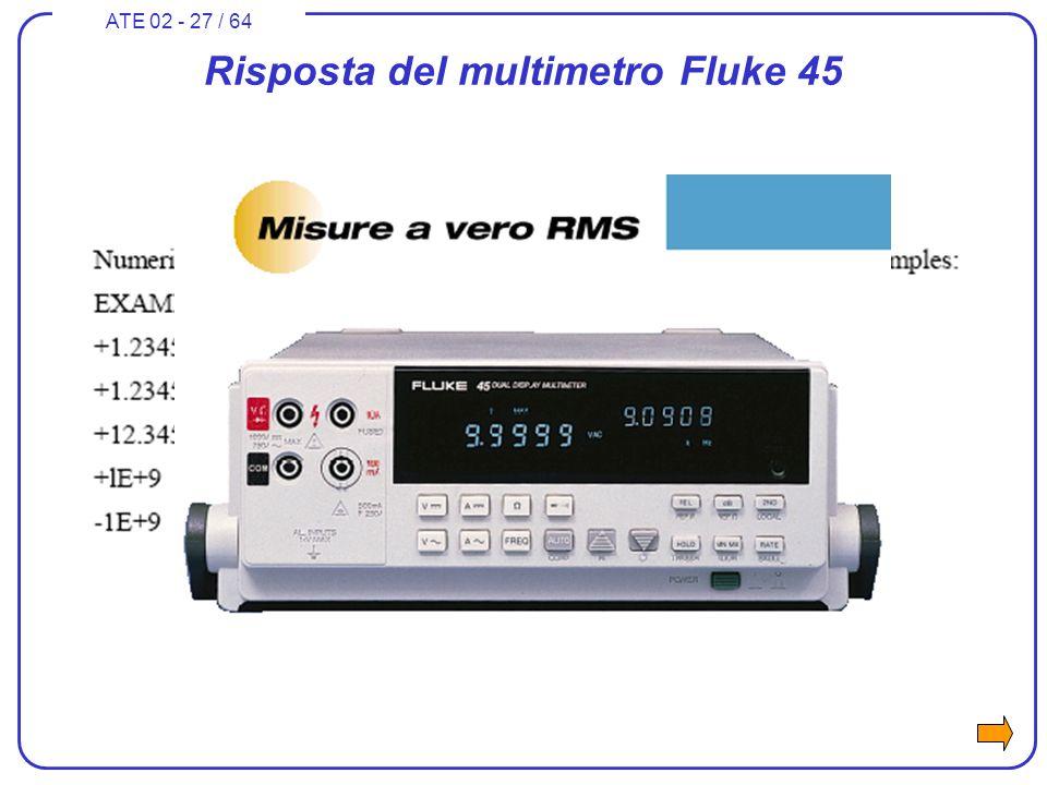 ATE 02 - 27 / 64 Risposta del multimetro Fluke 45