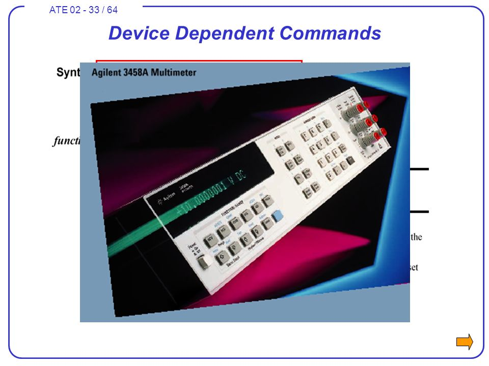 ATE 02 - 33 / 64 Device Dependent Commands