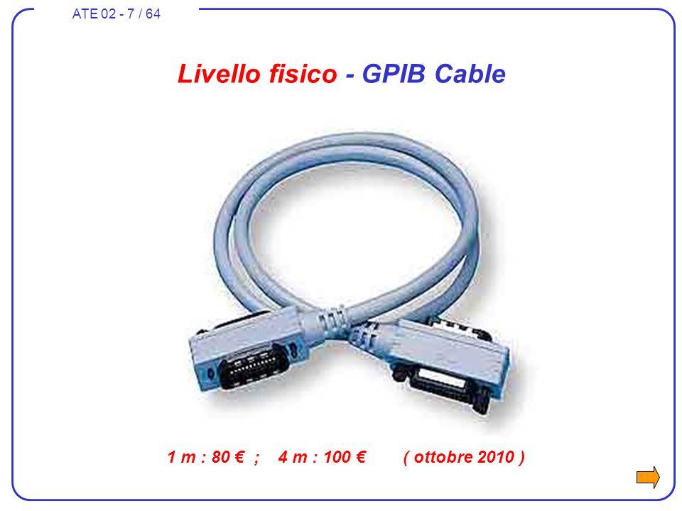 ATE 02 - 7 / 64 1 m : 80 ; 4 m : 100 ( ottobre 2010 ) Livello fisico - GPIB Cable