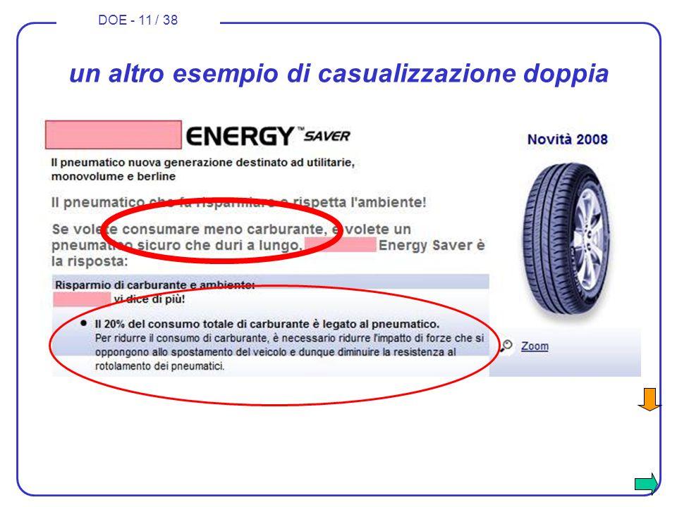 DOE - 11 / 38 un altro esempio di casualizzazione doppia