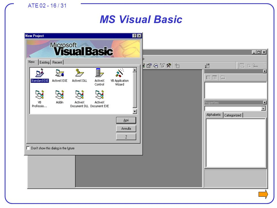 ATE 02 - 16 / 31 MS Visual Basic