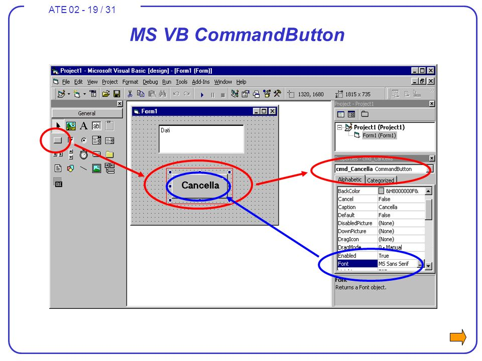 ATE 02 - 19 / 31 MS VB CommandButton