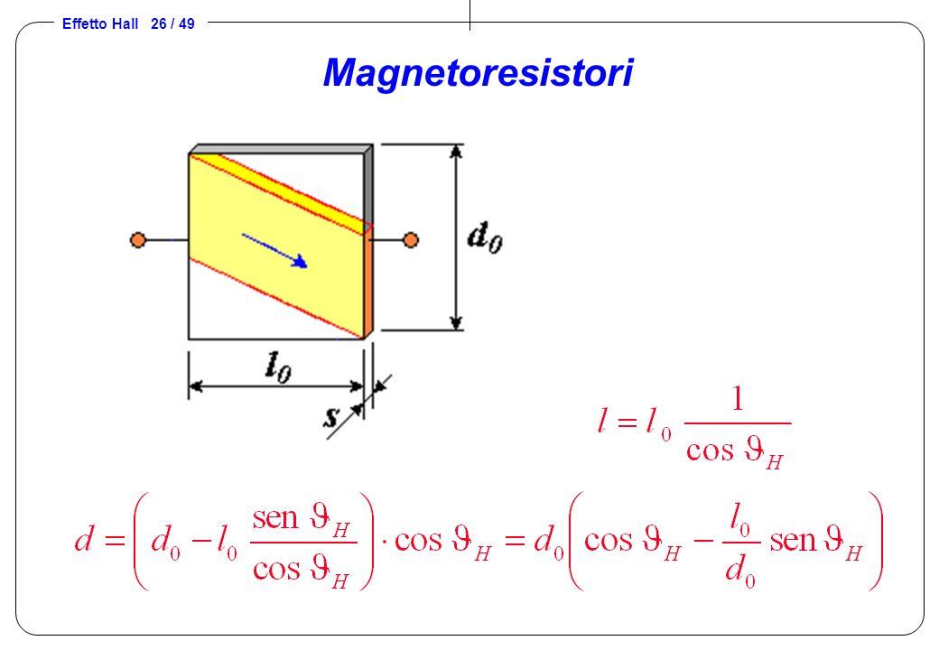 Effetto Hall 26 / 49 Magnetoresistori