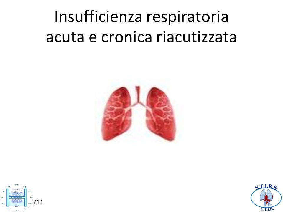 10/10/11 Insufficienza respiratoria acuta e cronica riacutizzata