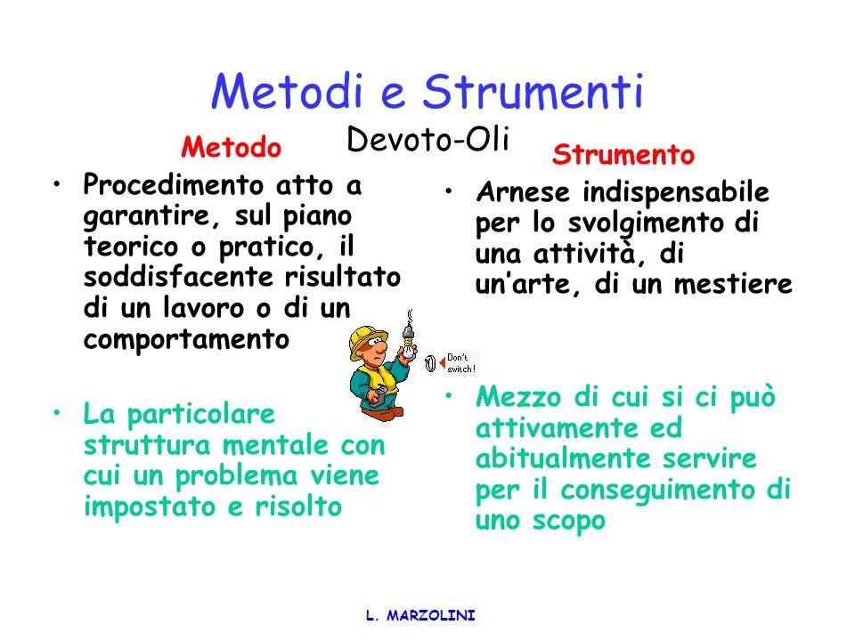 L. MARZOLINI PILASTRI FONDAMENTALI LA FORMAZIONE per proporre una lettura sistemica della situazione e per acquisire gli strumenti metodologici necess
