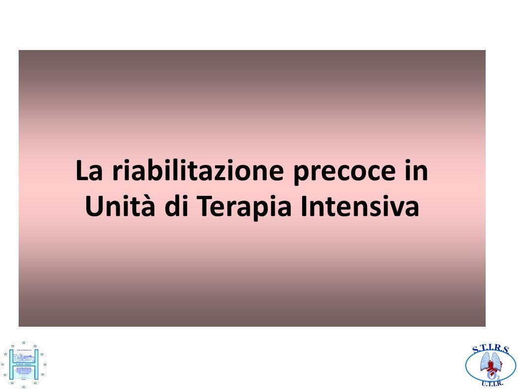 Obiettivi Scopo della riabilitazione in UTI è il recupero della massima autonomia del paziente, sia della funzione respiratoria che della funzione motoria