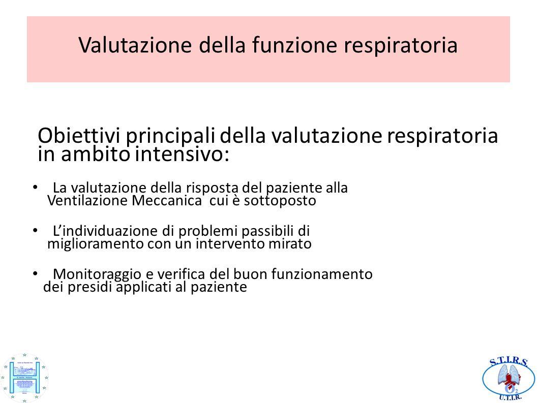 Valutazione della funzione respiratoria.