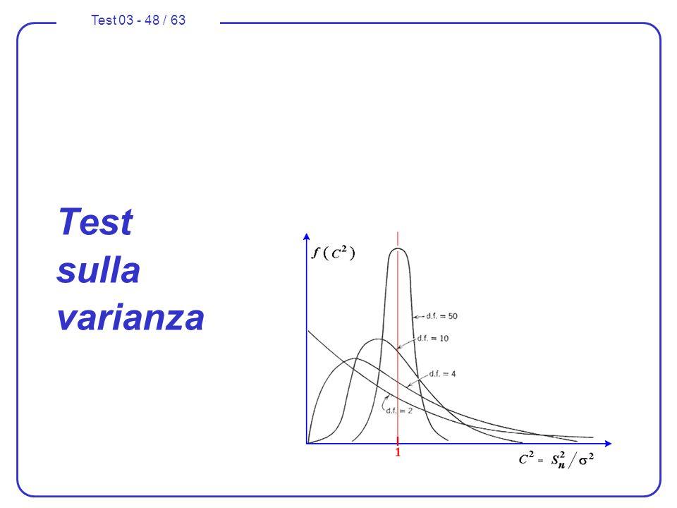Test 03 - 48 / 63 Test sulla varianza