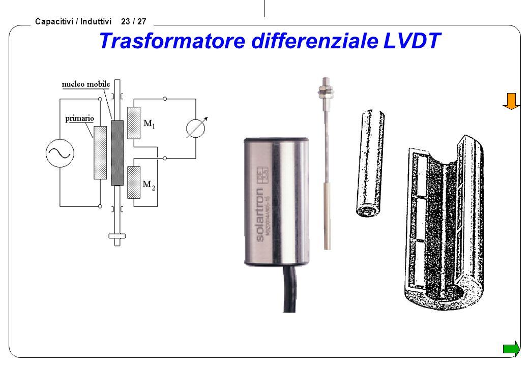 Capacitivi / Induttivi 23 / 27 Trasformatore differenziale LVDT