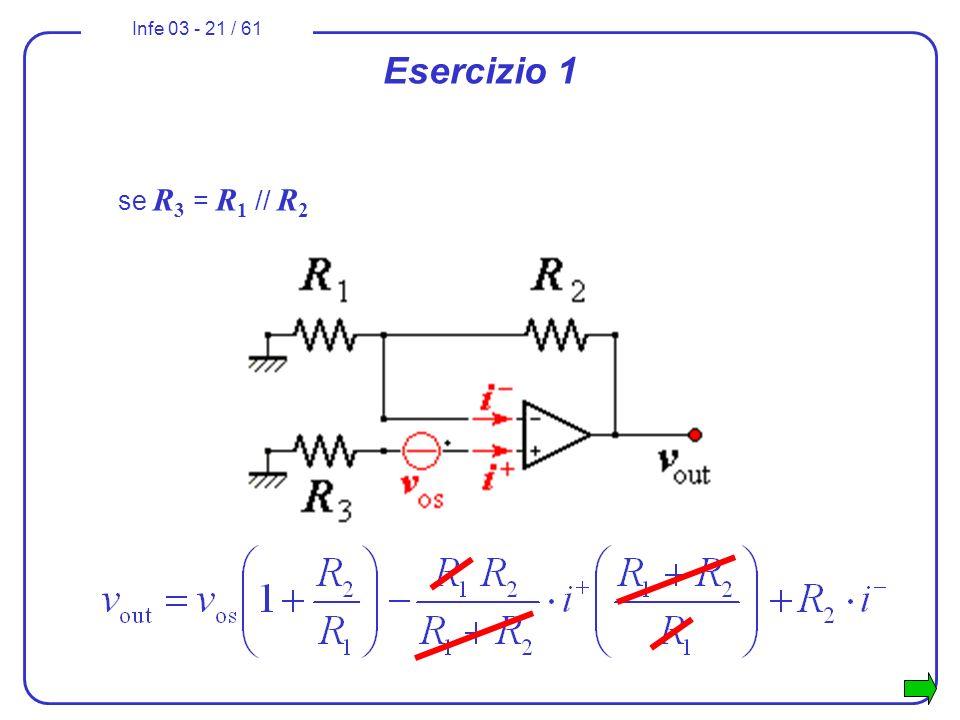 Infe 03 - 21 / 61 Esercizio 1 se R 3 = R 1 // R 2