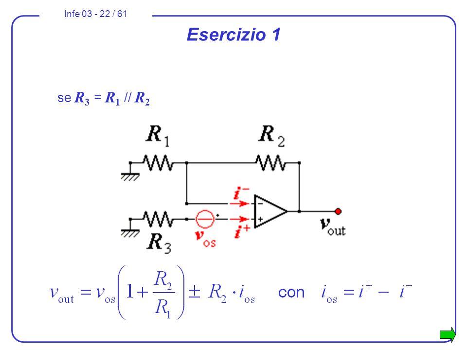 Infe 03 - 22 / 61 Esercizio 1 se R 3 = R 1 // R 2