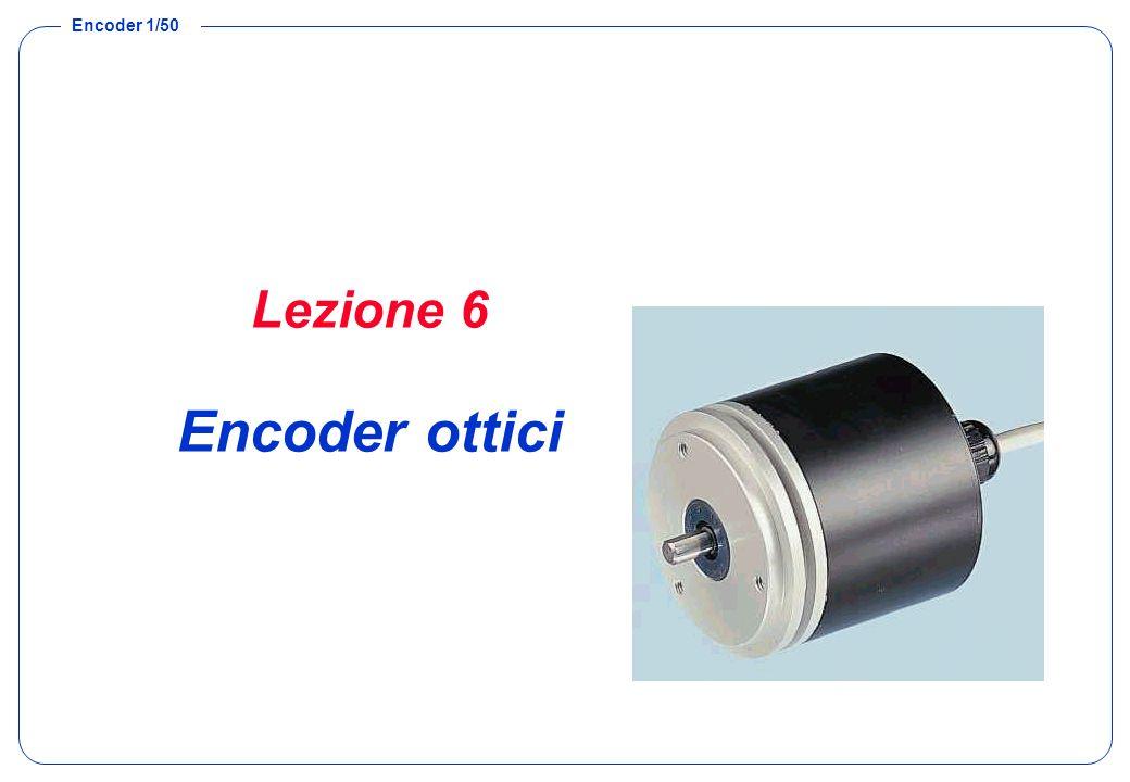 Encoder 2/50 Encoder Struttura degli encoder Encoder assoluto –Funzionamento –Risoluzione –Cause di Incertezza »Codifica binaria pura »Codifica Gray Encoder incrementale –Funzionamento –Circuiteria esterna –Cause di Incertezza
