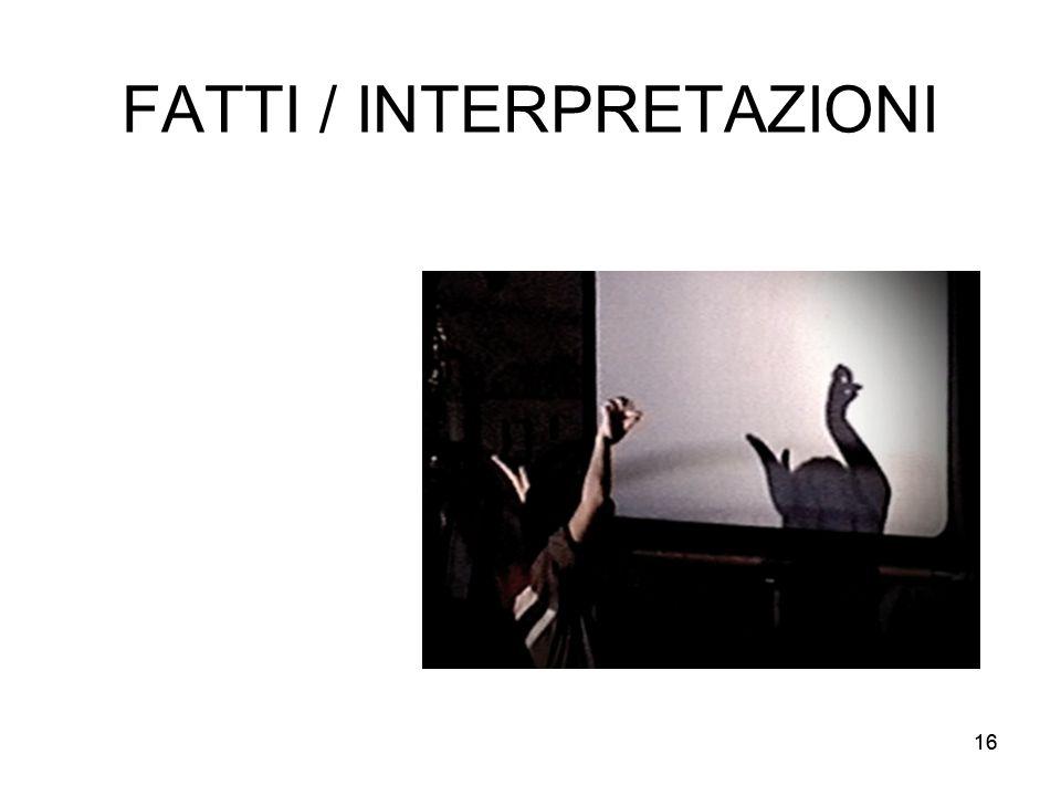 16 FATTI / INTERPRETAZIONI